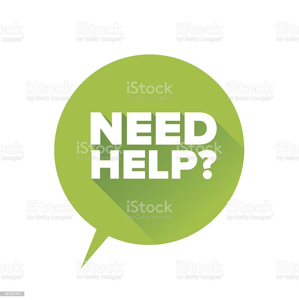 Need help? Flat design vector vector art illustration