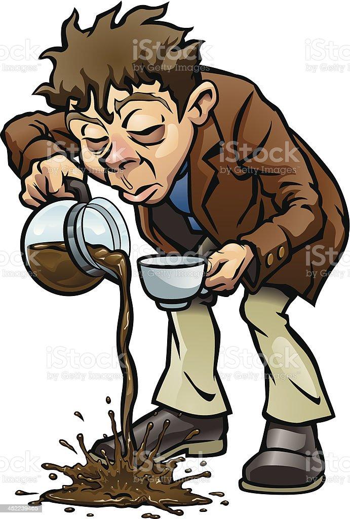 Need More Coffee vector art illustration