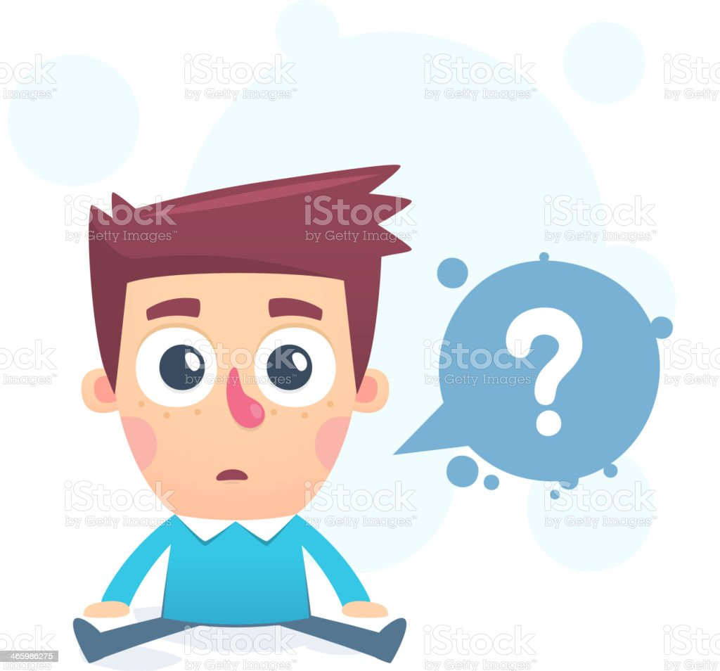 Need to find an answer royalty-free stock vector art