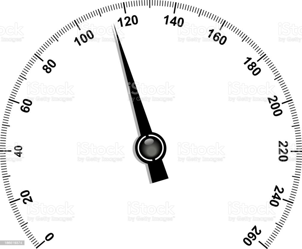 Needle speedometer royalty-free stock vector art