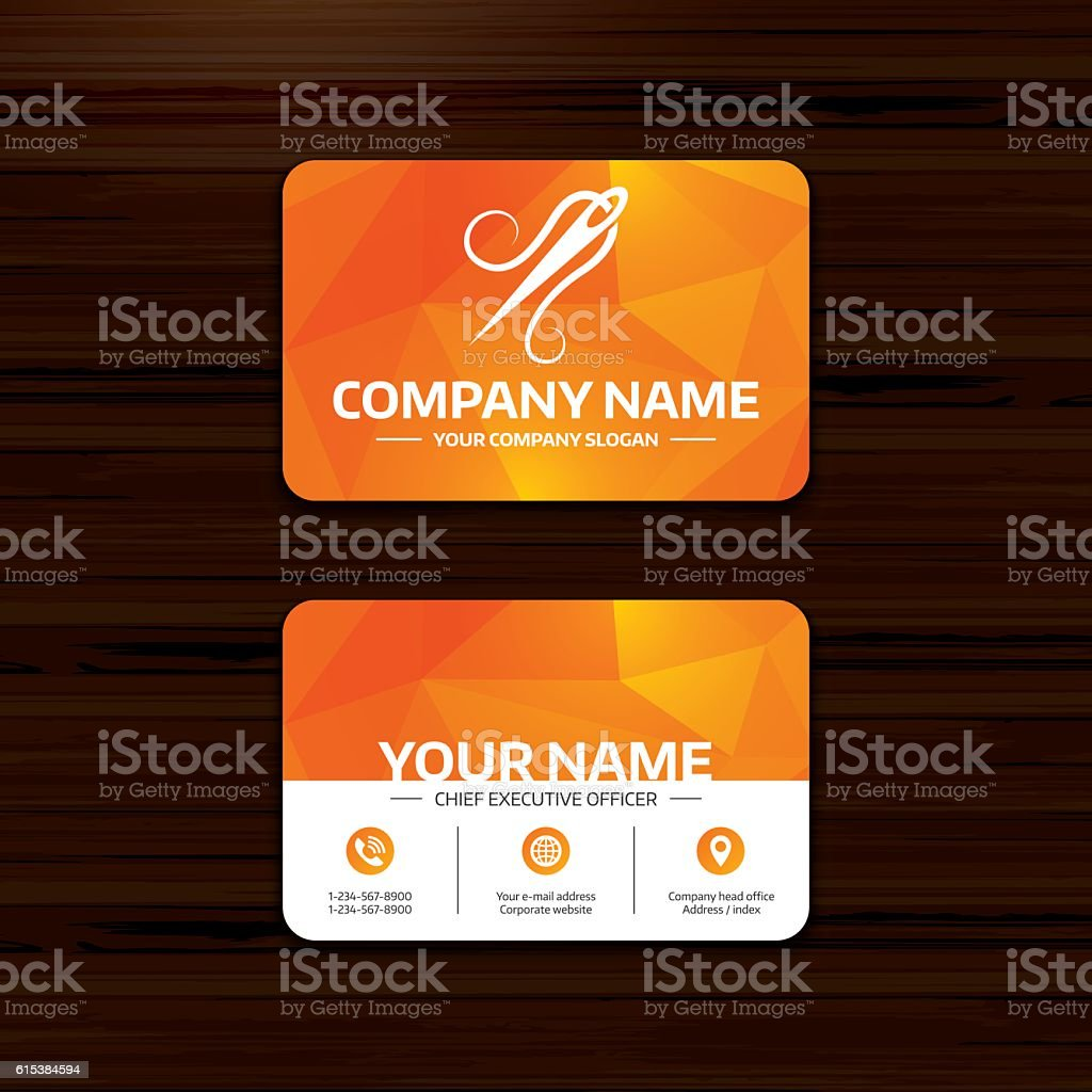 Needle with thread icon. Tailor sign. vector art illustration