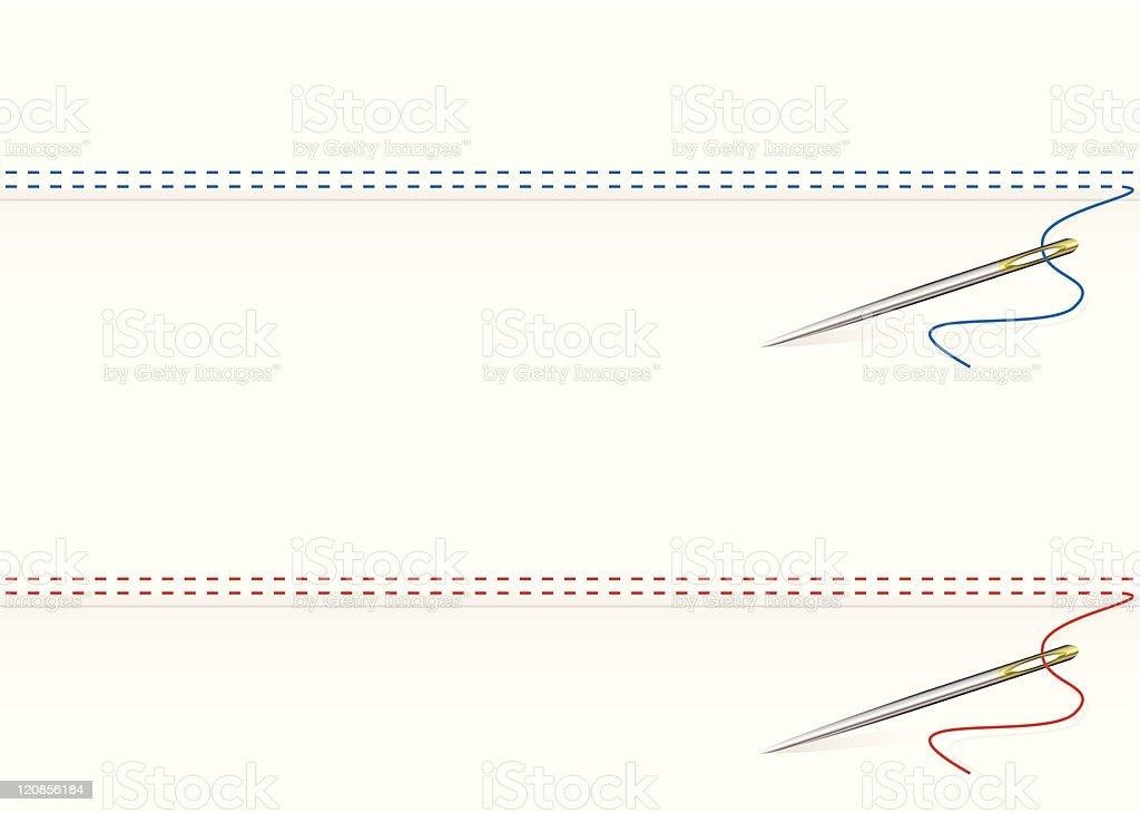 Needle work border vector art illustration
