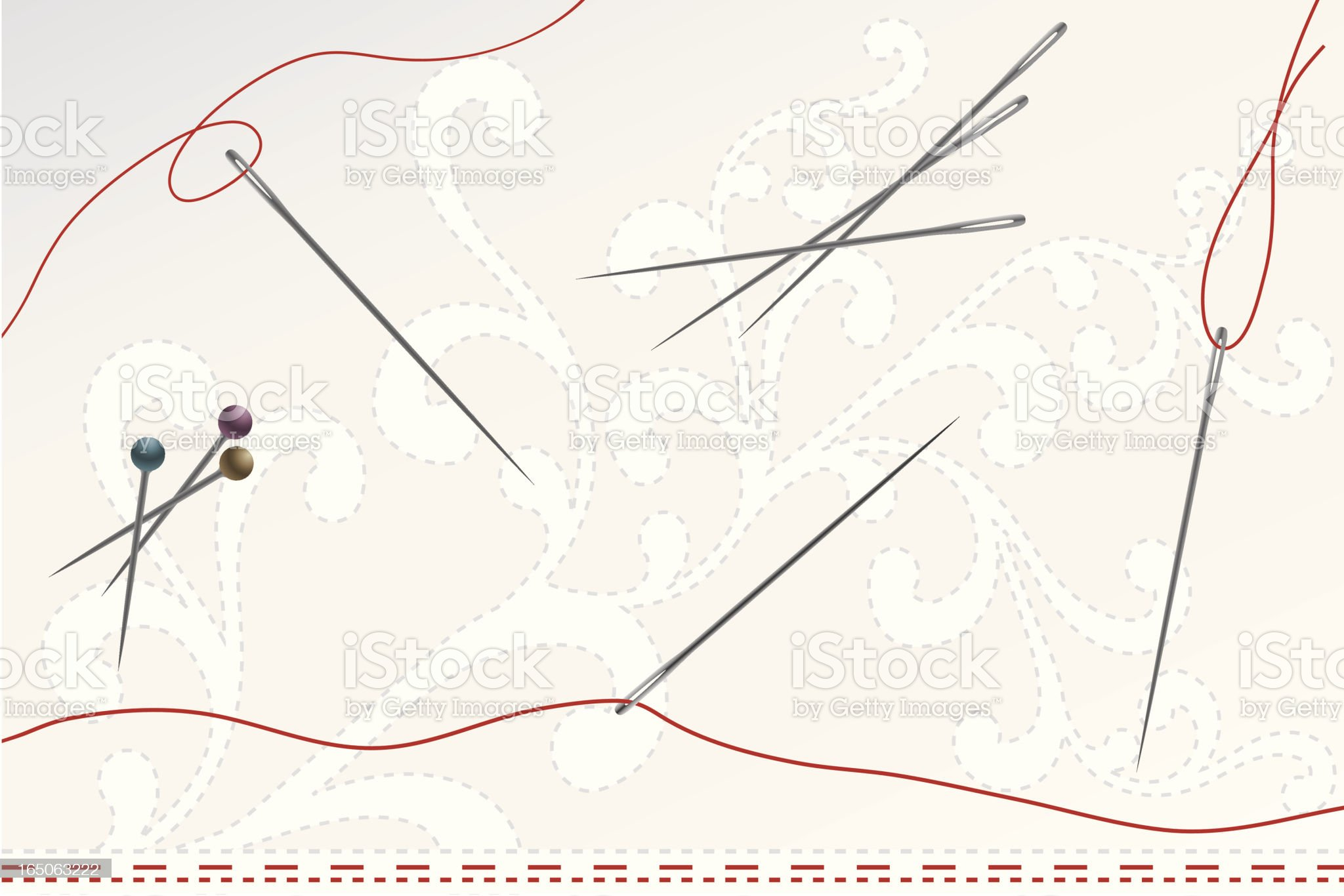Needles and Pins royalty-free stock vector art