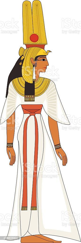 Nefertiti , egyptian ancient symbol vector art illustration
