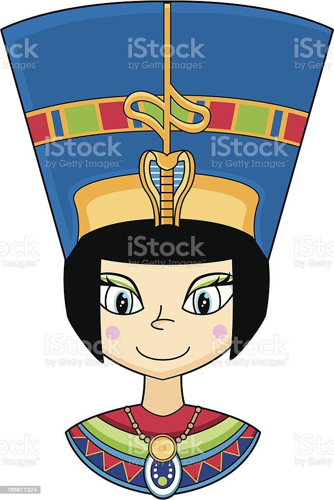 Nefertiti Egyptian Queens Head royalty-free stock vector art