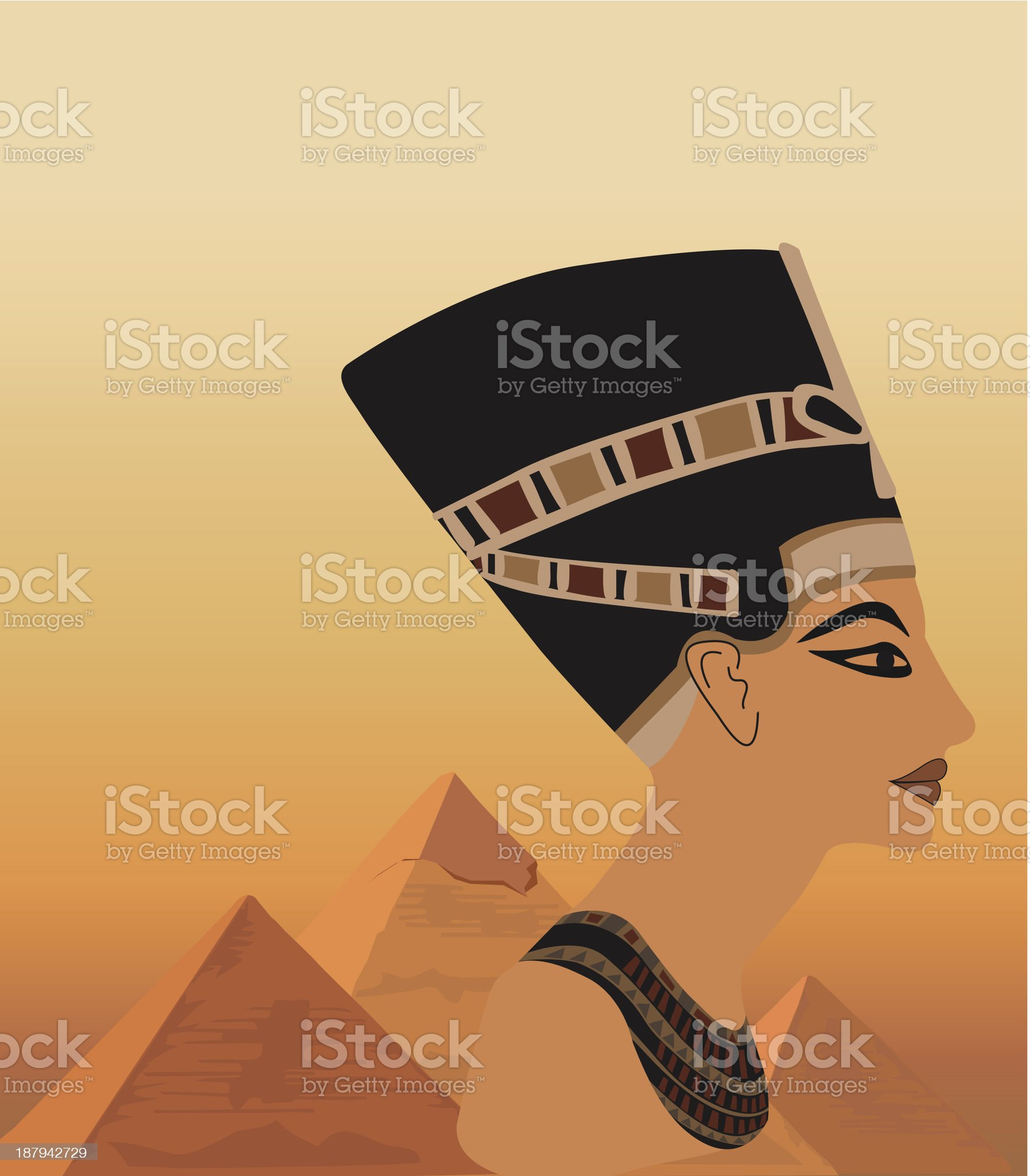Nefertiti royalty-free stock vector art