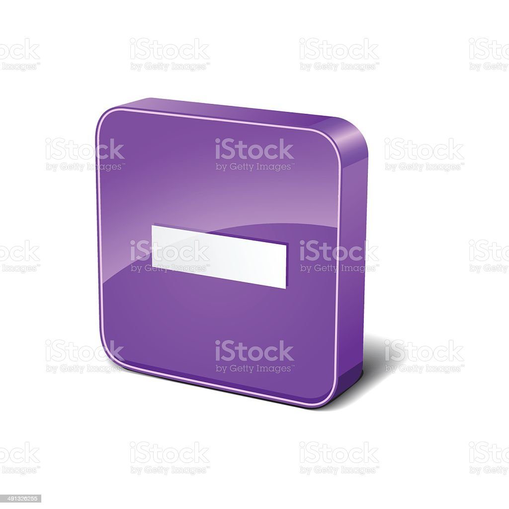 Negative 3d Rounded Corner Purple Vector Icon Button royalty-free stock vector art