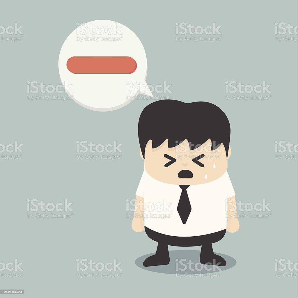 negative businessman vector art illustration