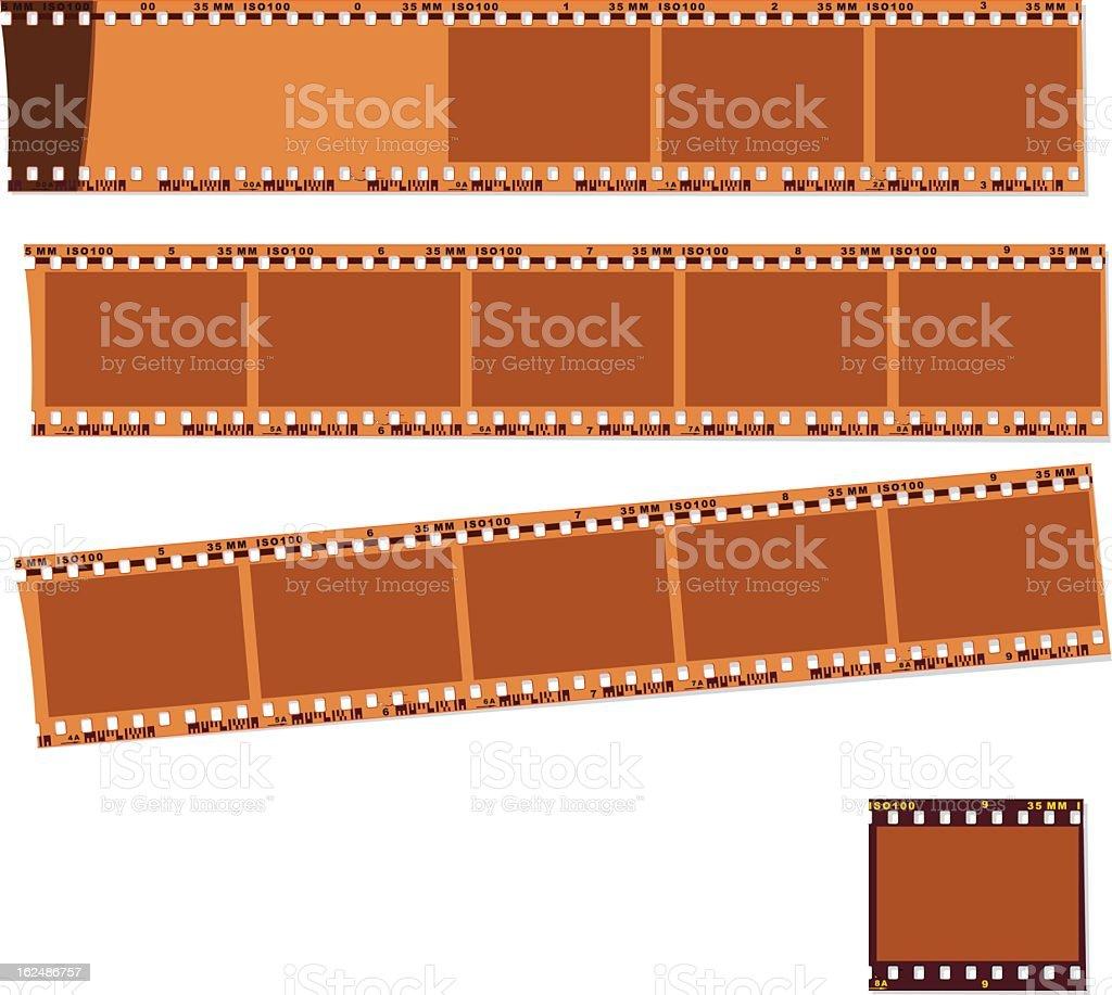 negative film and slide vector art illustration