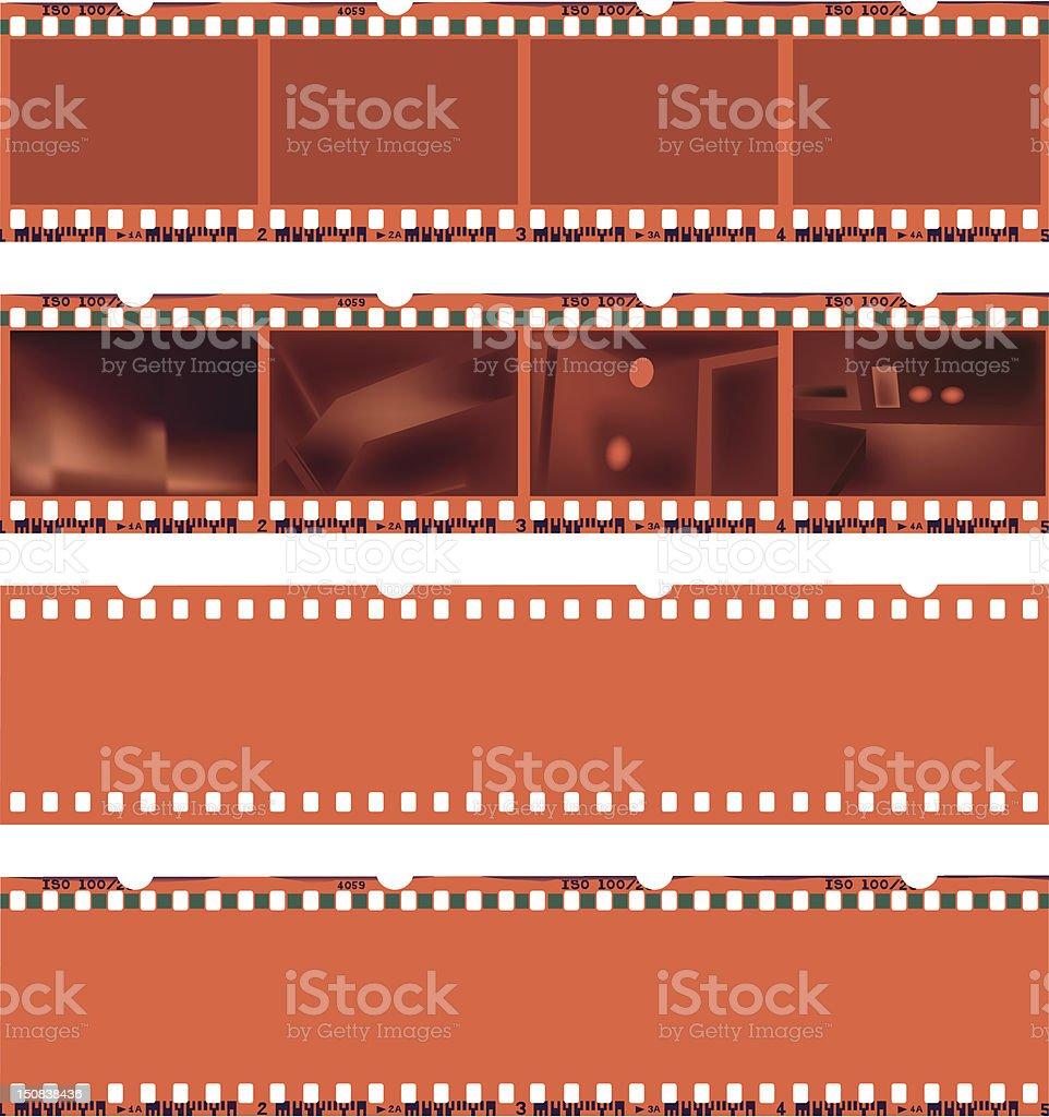 Negative film strips royalty-free stock vector art