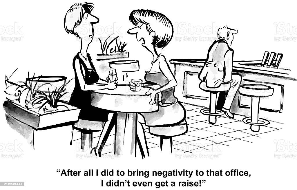 Negative Office Worker vector art illustration