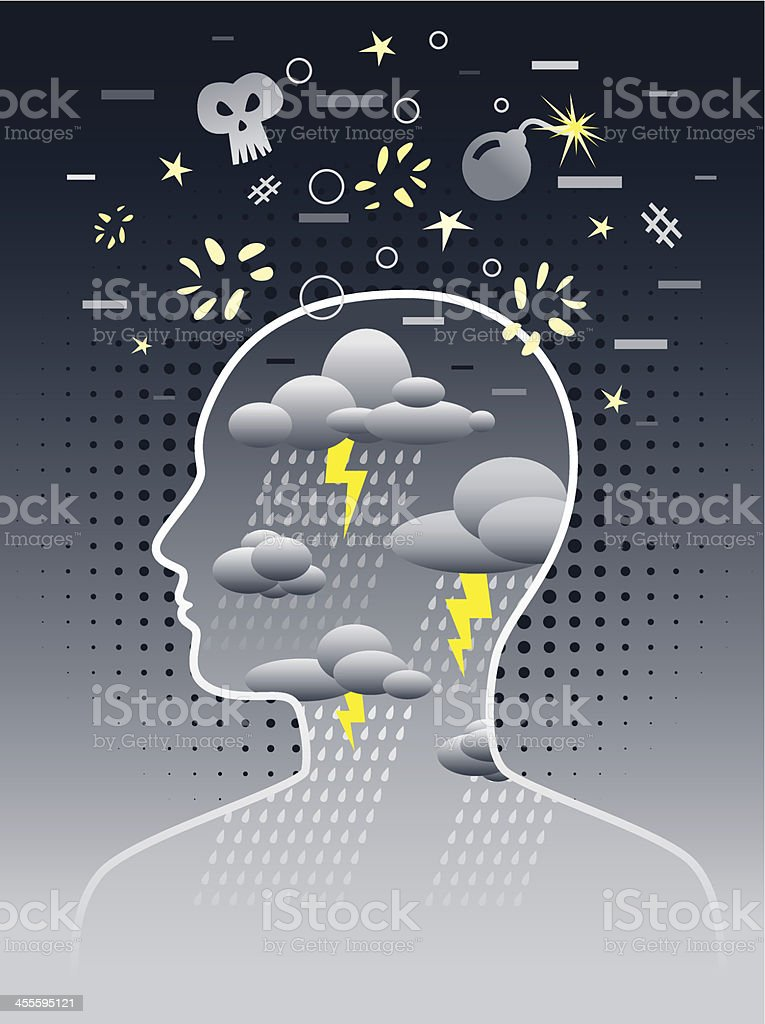 Negative Thoughts royalty-free stock vector art