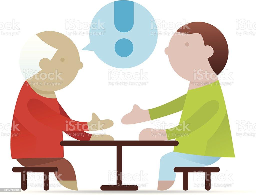 negotiating table royalty-free stock vector art