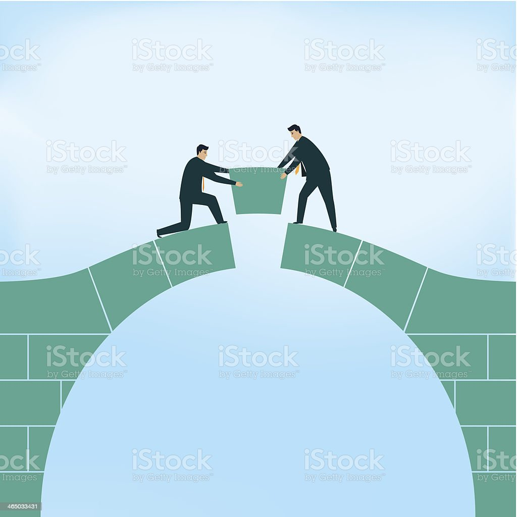 Negotiation vector art illustration