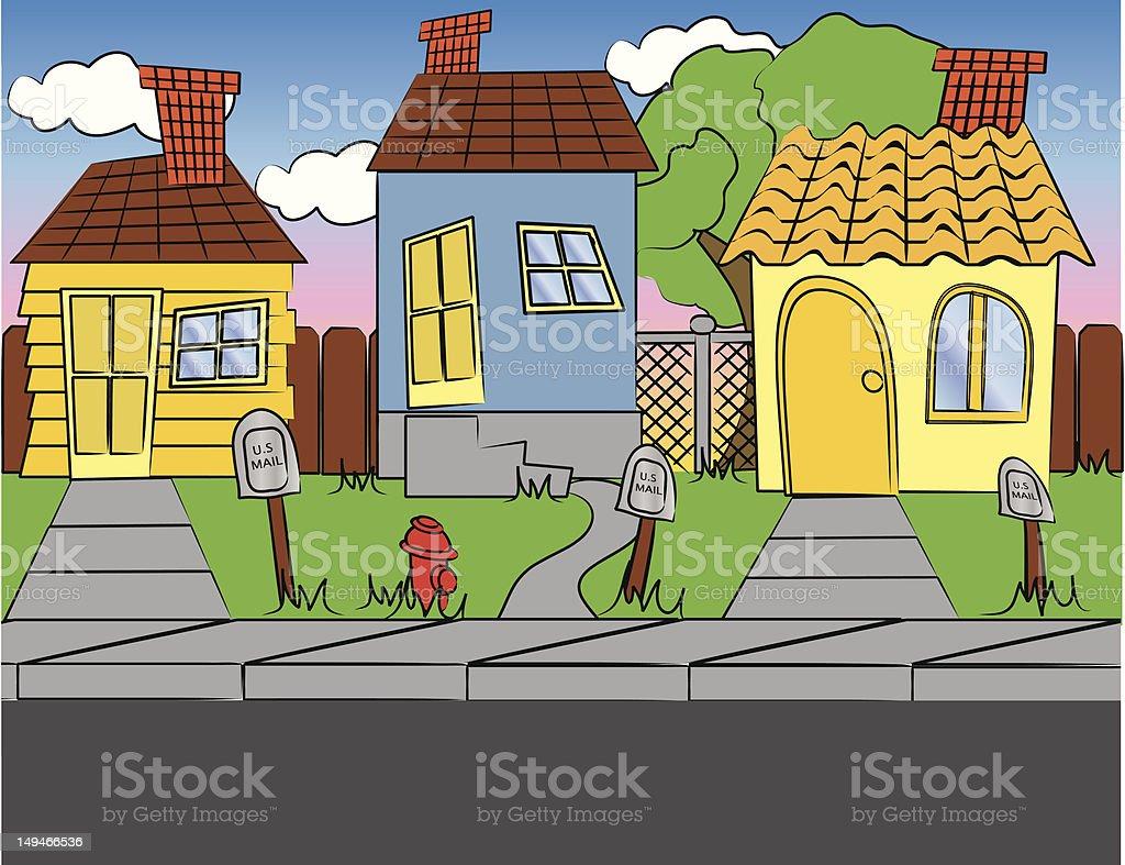 Neighborhood royalty-free stock vector art