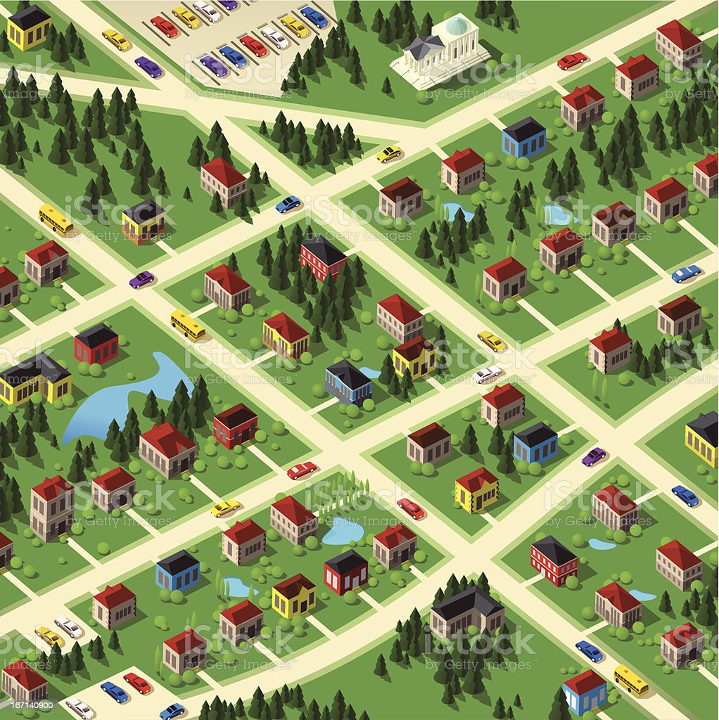 Neighborhood vector art illustration