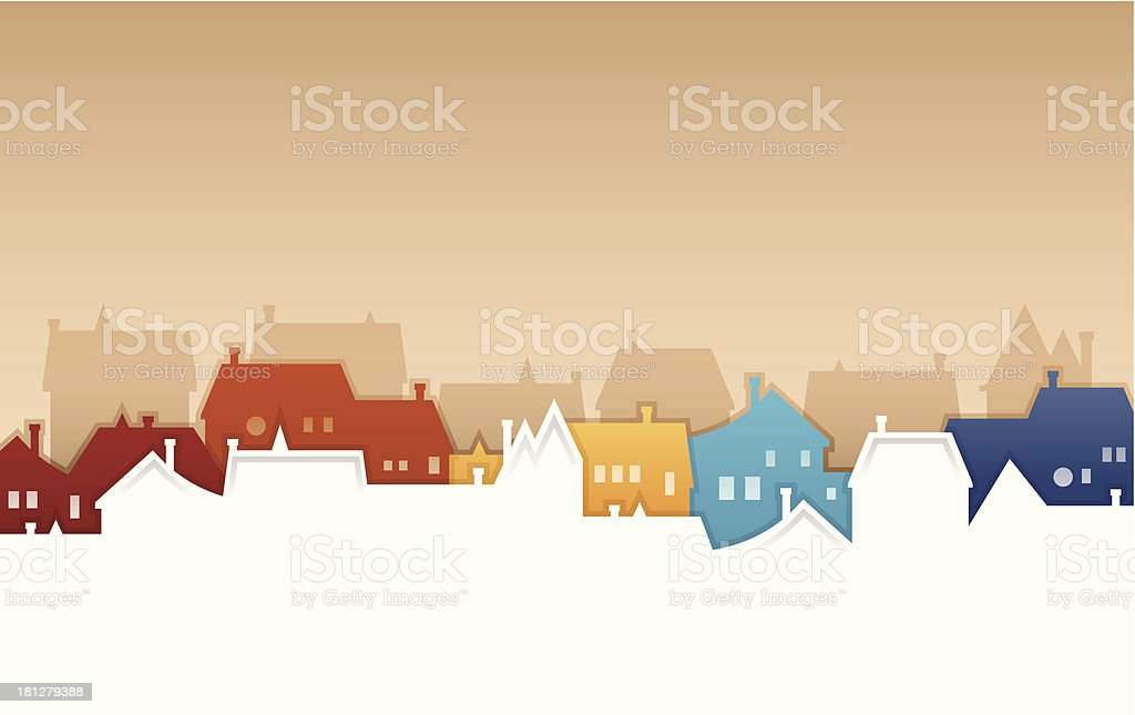 Neighborhood vector art illustration