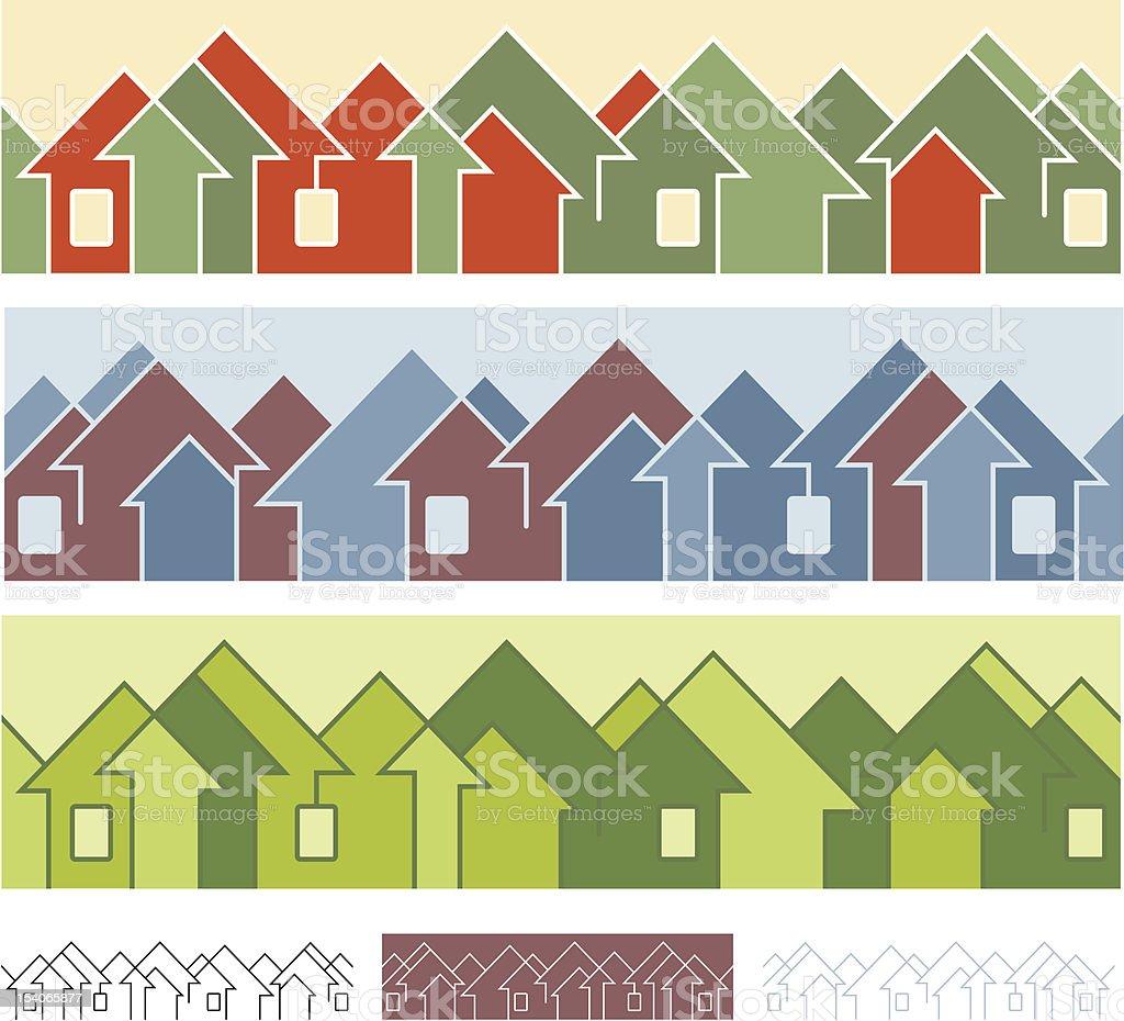 Neighborhoods vector art illustration