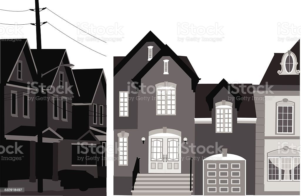 Neighbourhoods vector art illustration