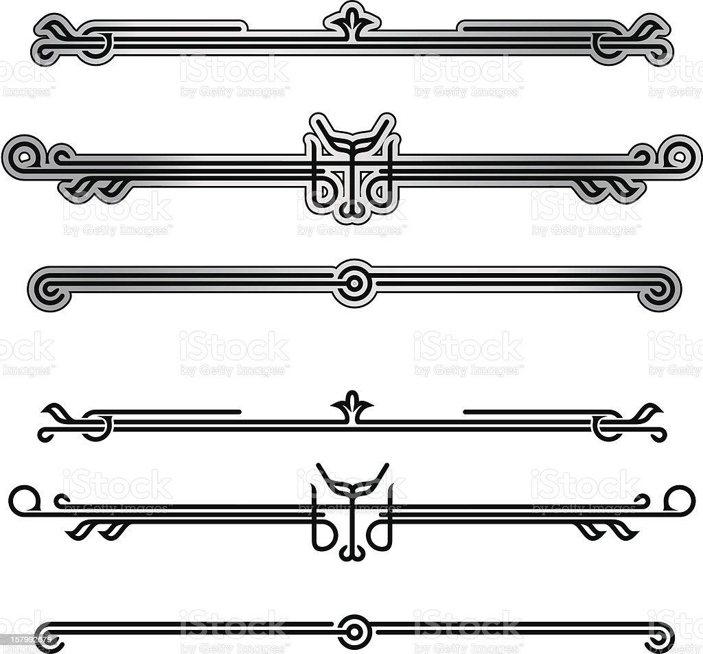Neo-deco Ornamentation - 1 credit vector art illustration