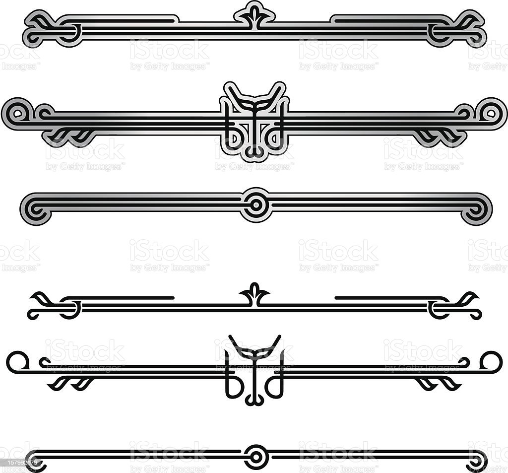 Neo-deco Ornamentation - 1 credit vector art illustration