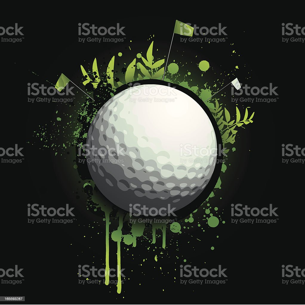 Neon Golf Splatter royalty-free stock vector art
