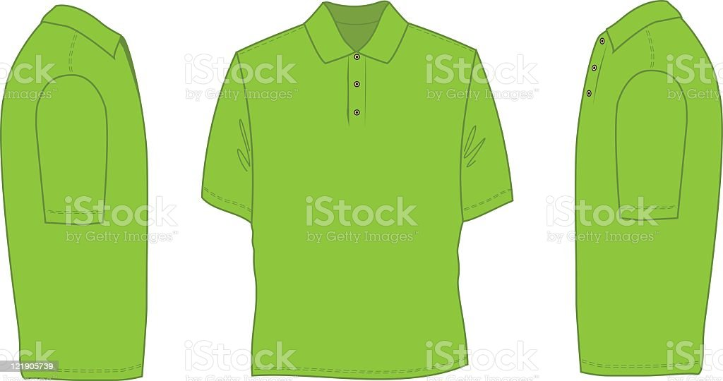 Polo Shirt vector art illustration