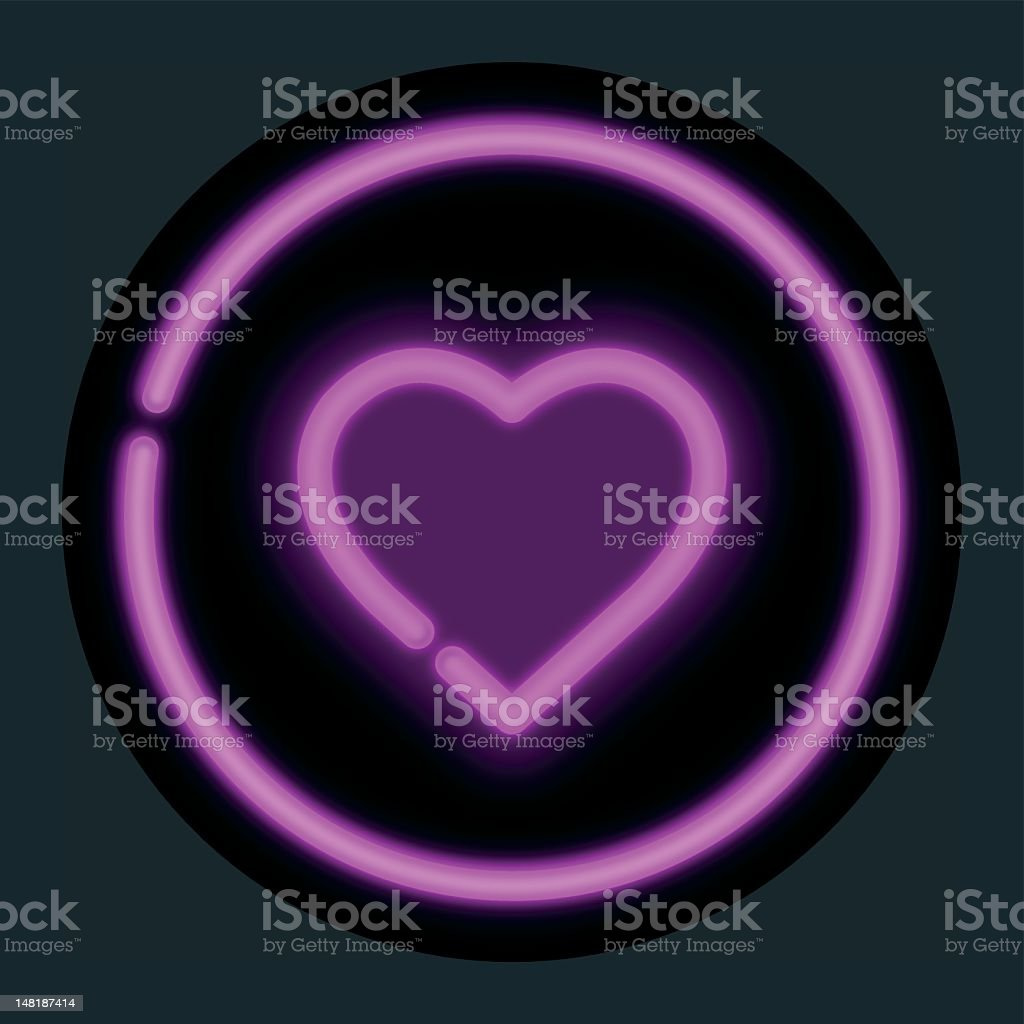 Neon Heart royalty-free stock vector art