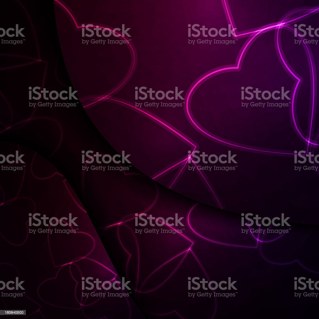 Neon hearts royalty-free stock vector art