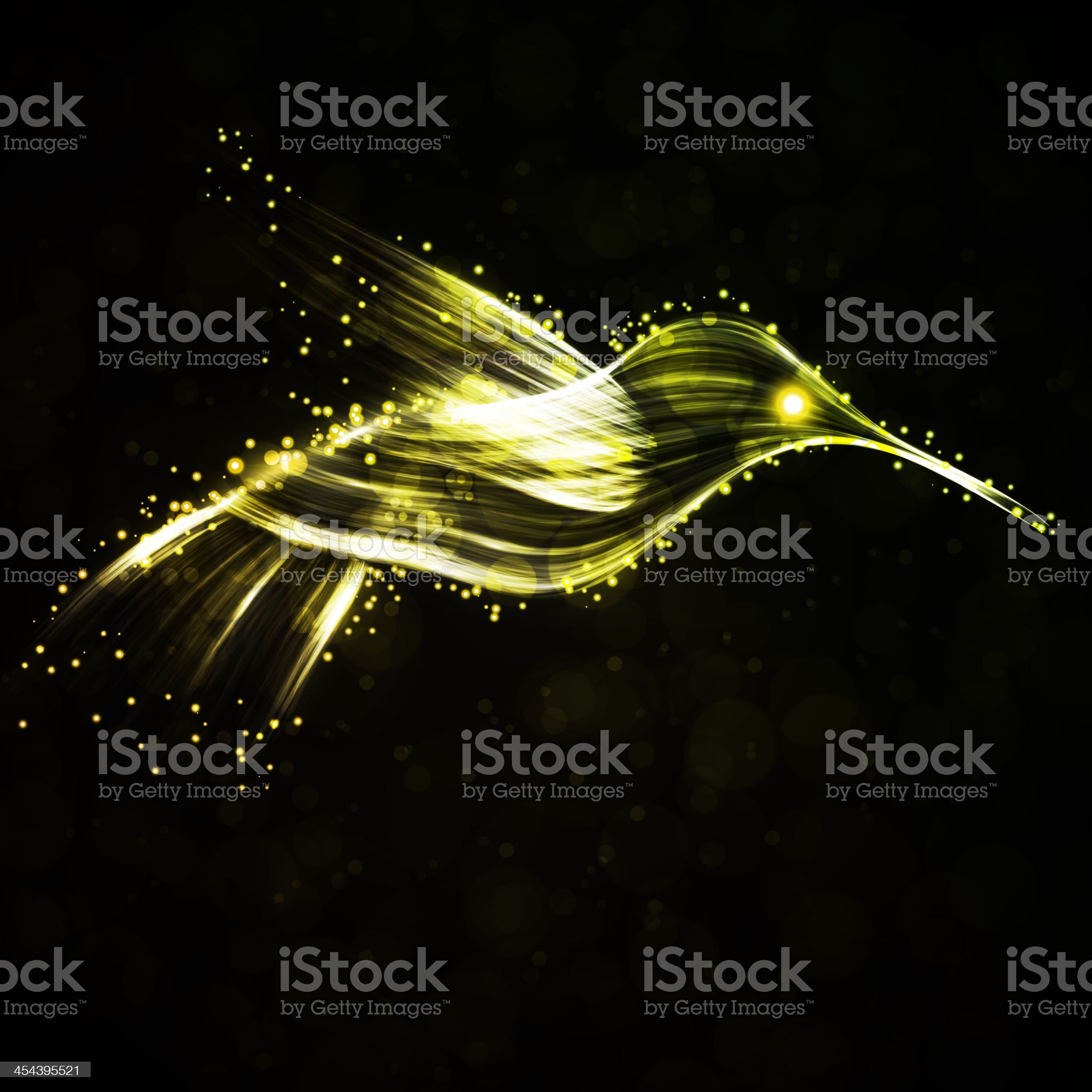 Neon hummingbird royalty-free stock vector art