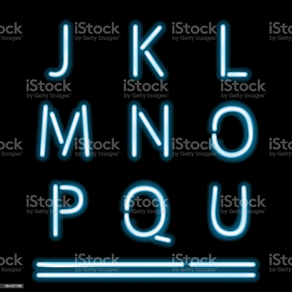Neon Light Alphabet 2 royalty-free stock vector art