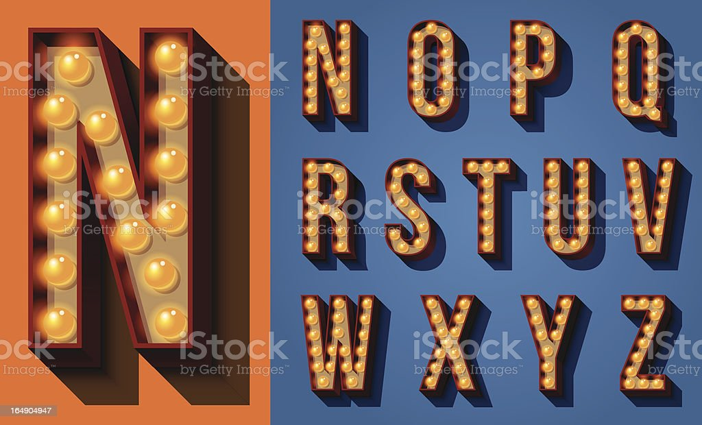 Neon Sign Type royalty-free stock vector art