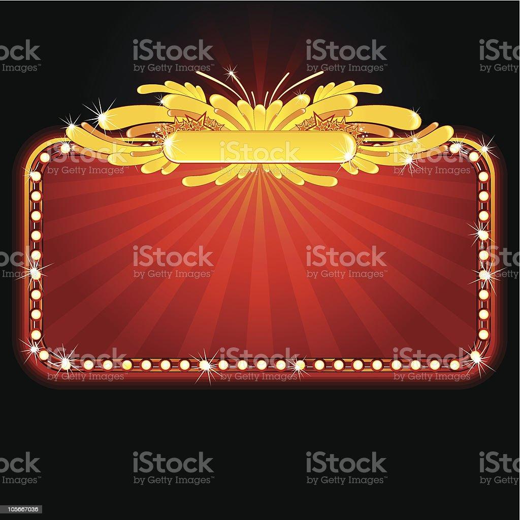 Neon sign royalty-free stock vector art