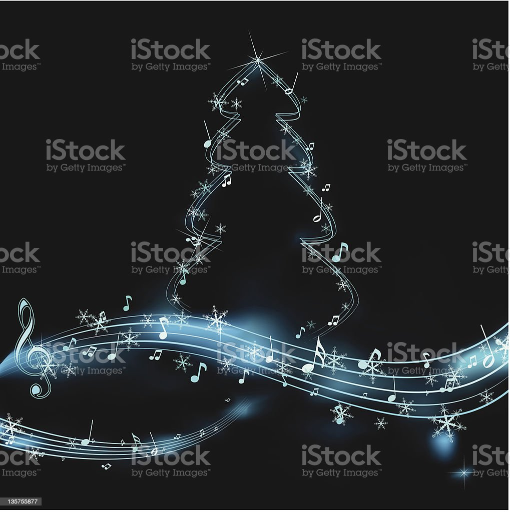 neon sound of christmas royalty-free stock vector art