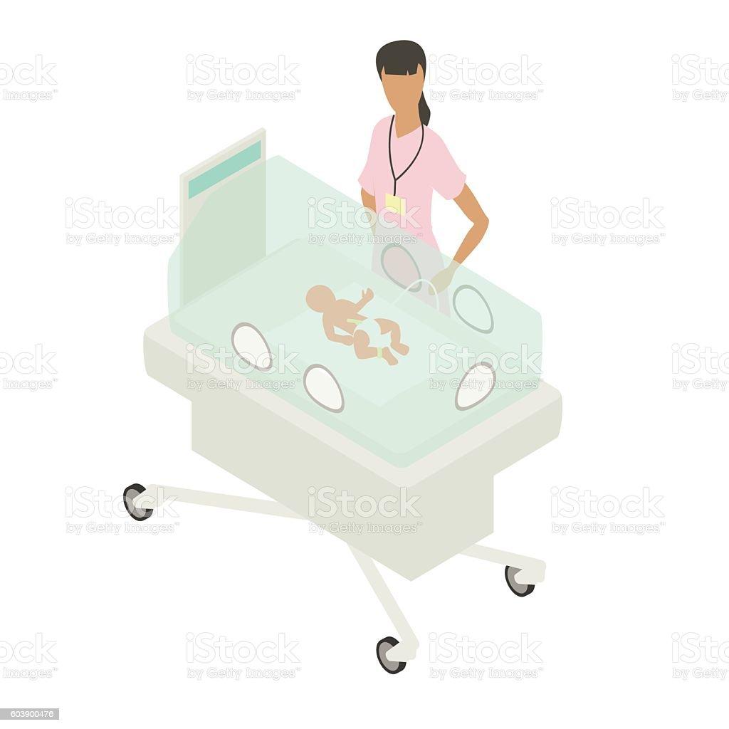 NICU neonatal intensive care unit illustration vector art illustration