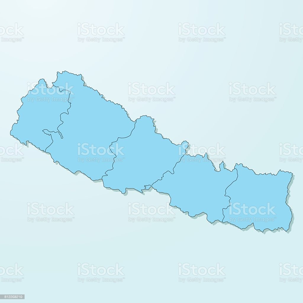 Nepal blue map on degraded background vector vector art illustration