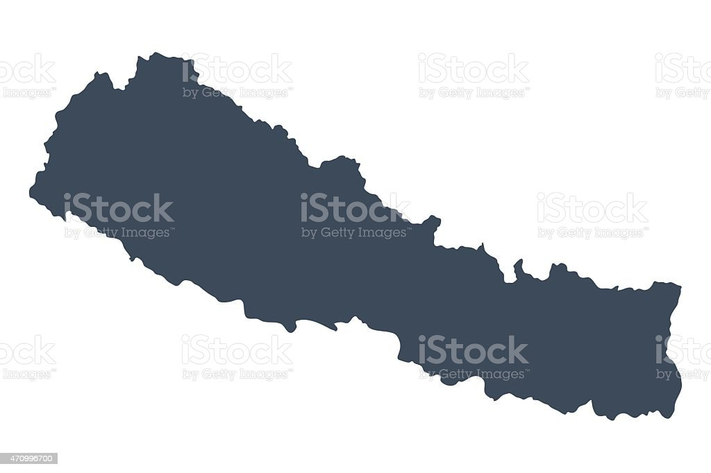 Nepal country map vector art illustration