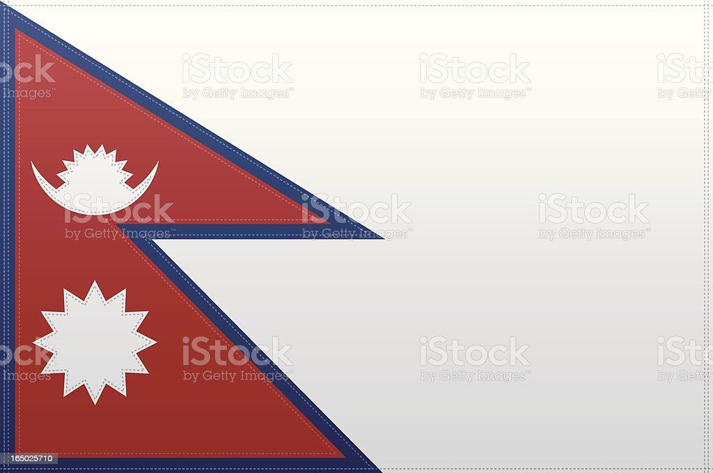 Nepal Flag (Vector) royalty-free stock vector art
