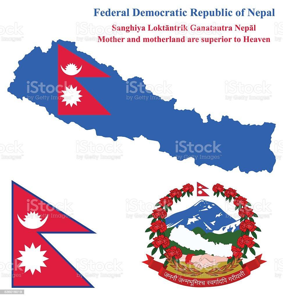 Nepal Flag vector art illustration