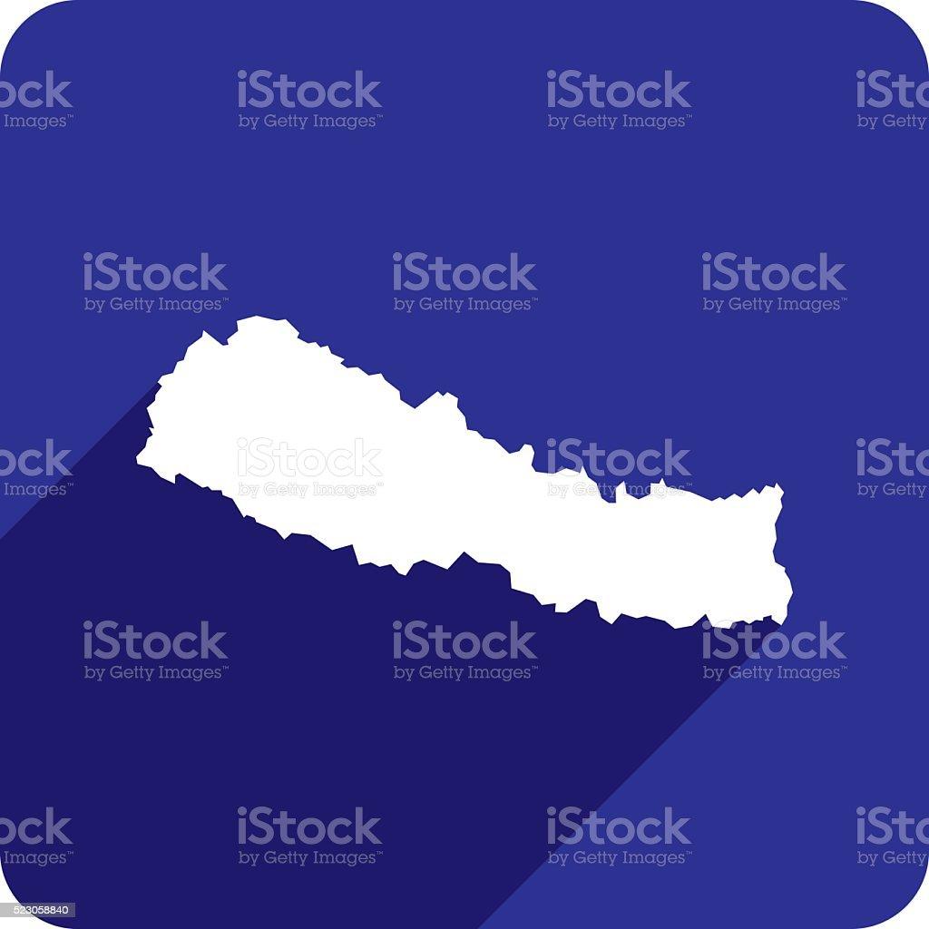 Nepal Icon Silhouette vector art illustration