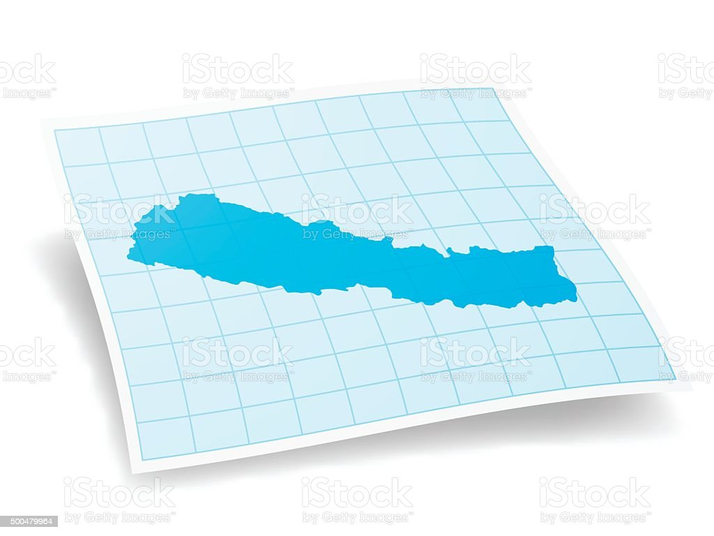 Nepal Map isolated on white Background vector art illustration