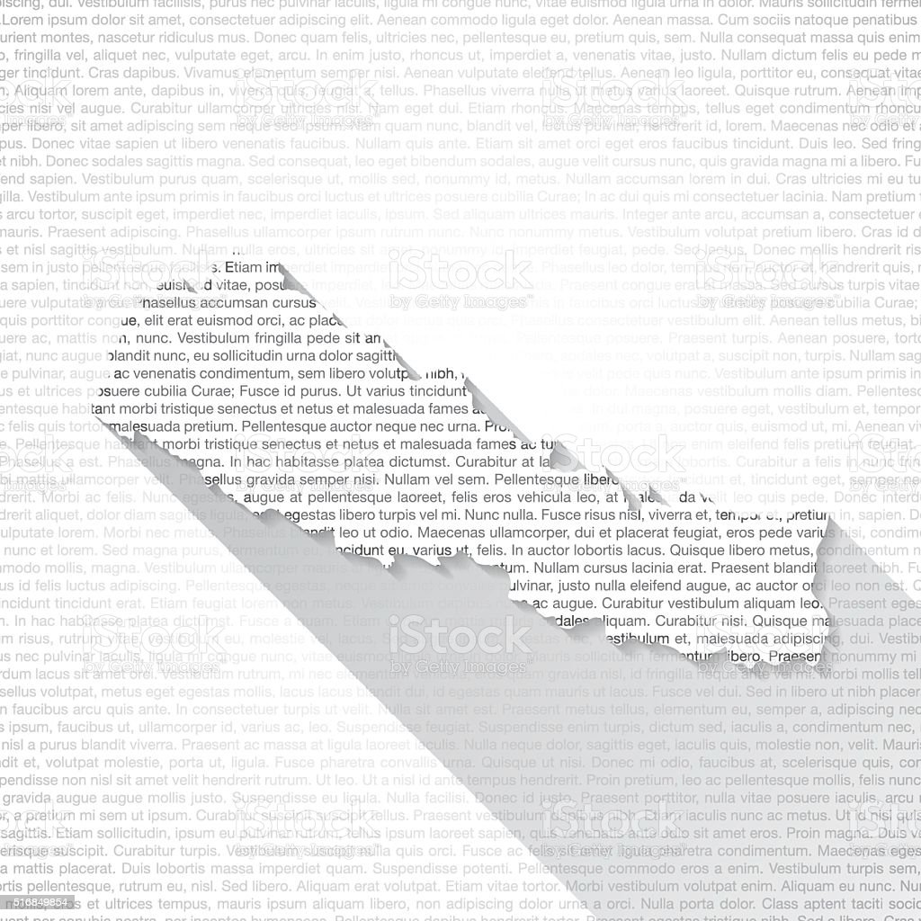 Nepal Map on Text Background - Long Shadow vector art illustration