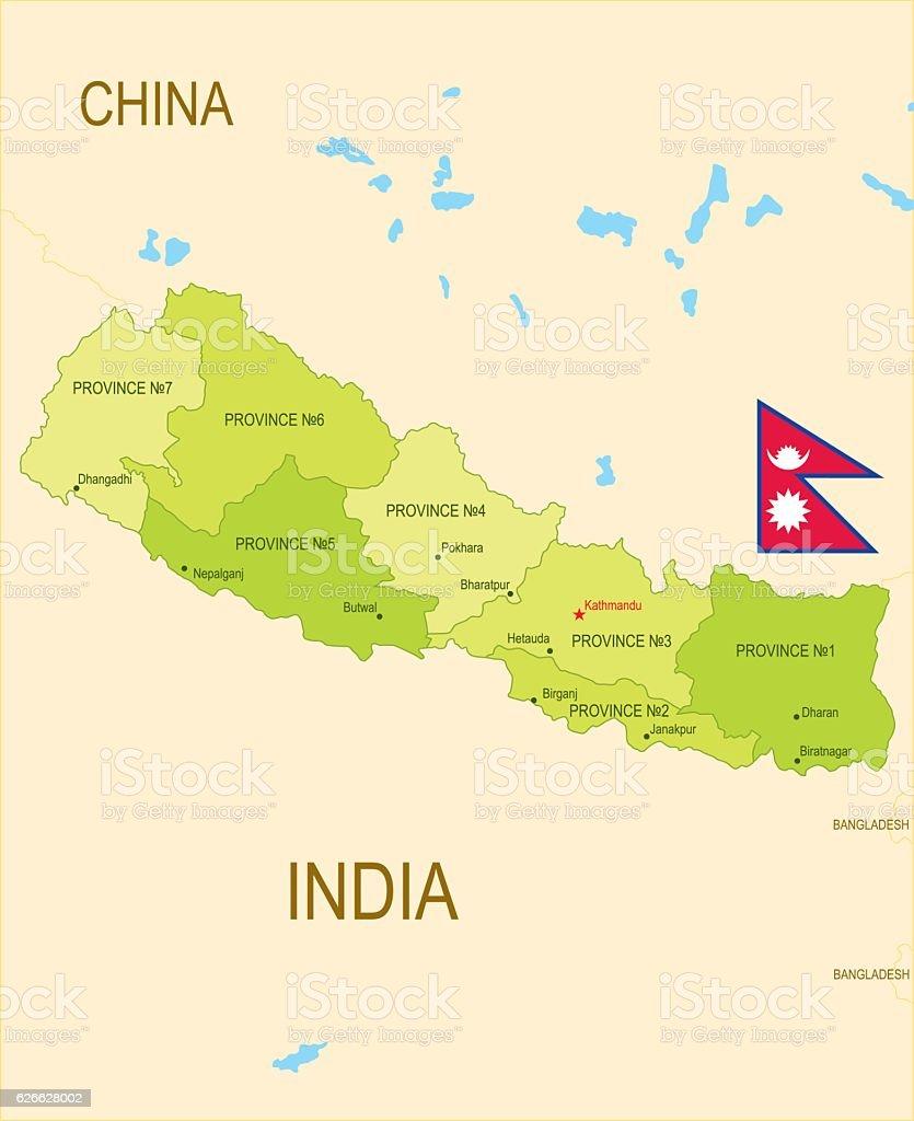 Nepal vector art illustration