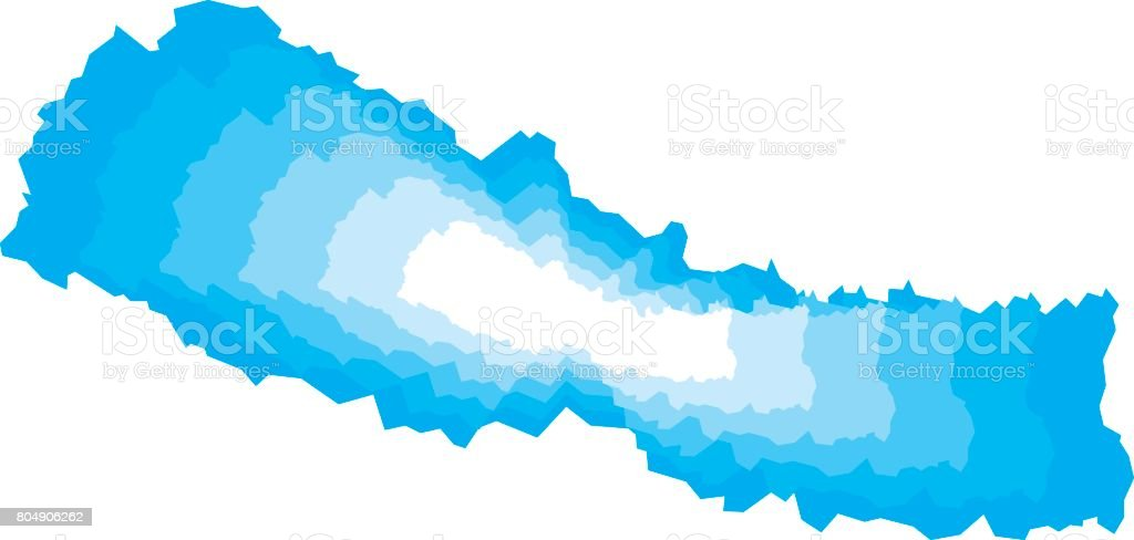 Nepal Zoom vector art illustration