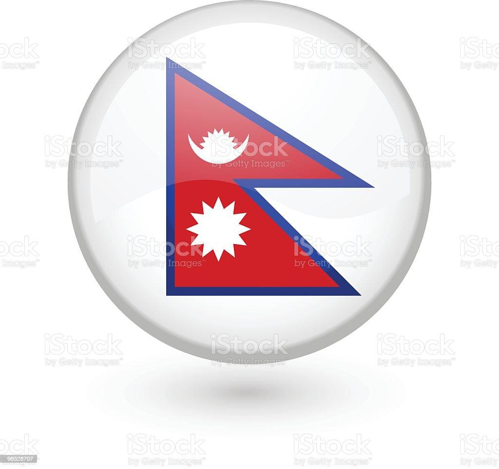 Nepali flag vector button royalty-free stock vector art