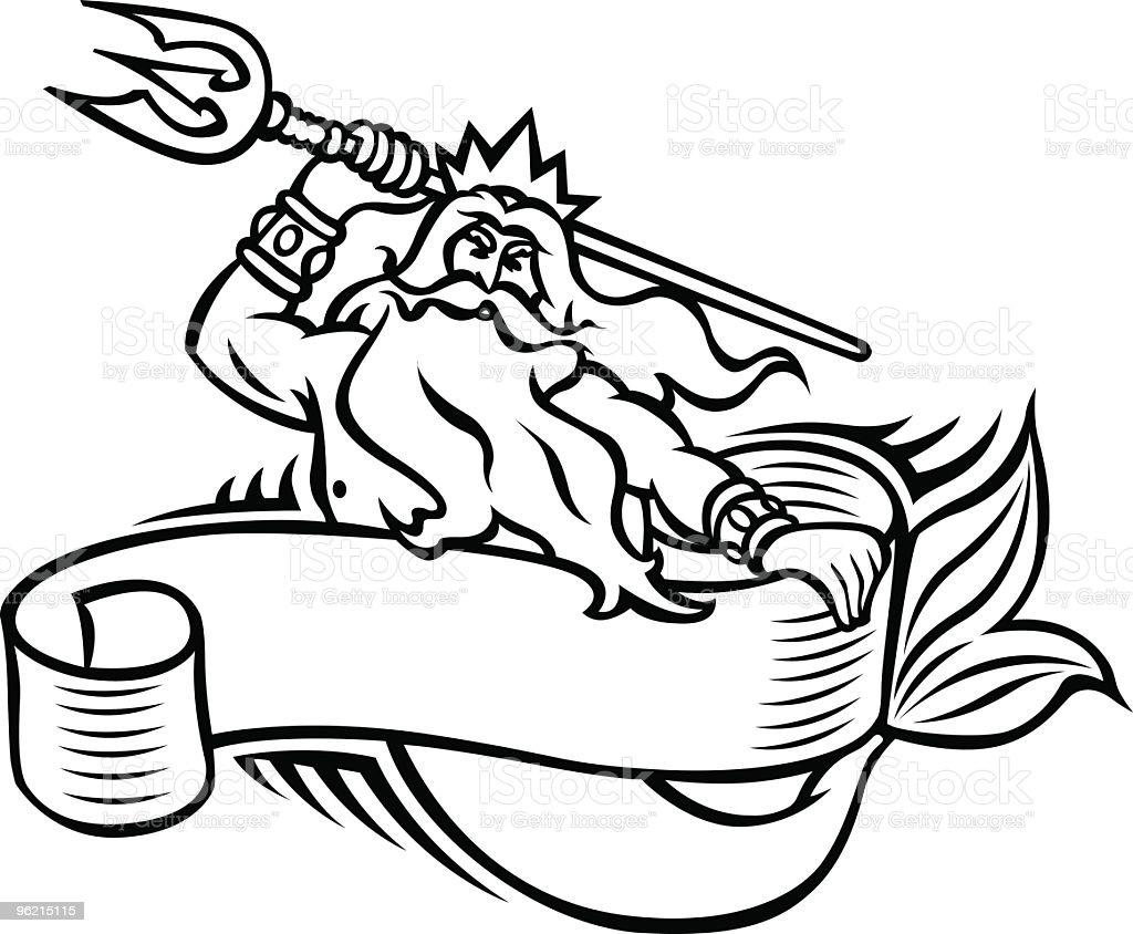 Neptune royalty-free stock vector art