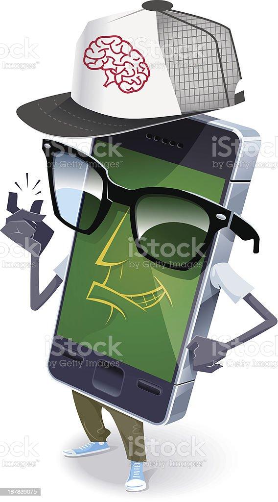 Nerd phone royalty-free stock vector art