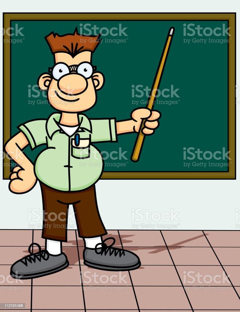 Nerd Teacher royalty-free stock vector art