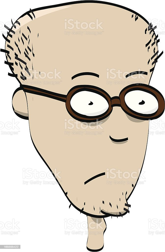 Nerdy cartoon man vector art illustration