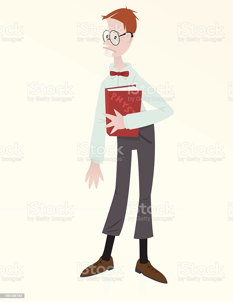 Nerdy School Boy royalty-free stock vector art